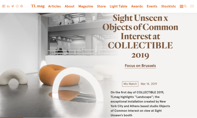 Objects of common interest